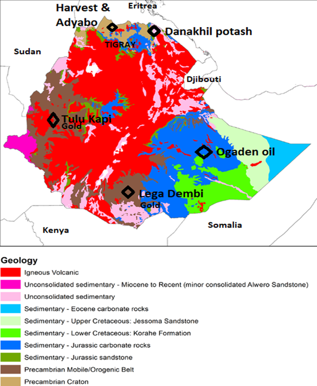 Mining sector challenges in developing countries, Tigray, Ethiopia