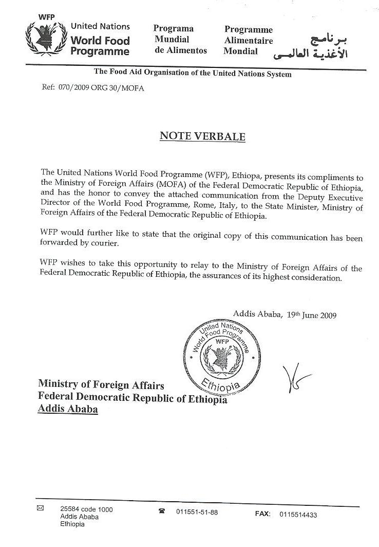 Aiga forum an ethiopian forum for news and views and to promote see also wfp letter to mfa stopboris Images