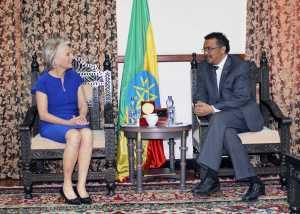 Dr. Tedros meets President, CEO of Woodrow Wilson Center